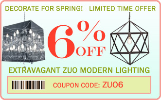 Coupon - 6% off Zuo Modern furniture, lighting and home decor