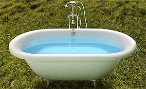 Jacuzzi free standing soaker tub