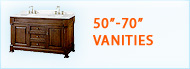 Bathroom Vanities 50 to 70 inches wide