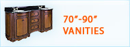 Bathroom Vanities 70 to 90 inches wide